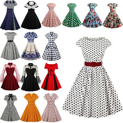 AU46.16 • Buy Womens Formal Vintage Pinup Swing Party Rockabilly Housewife Skater A-Line Dress