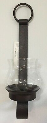 £21.42 • Buy Home Interior Sheffield Wall Sconce Hammered Metal Brown Oil Rubbed Bronze VTG