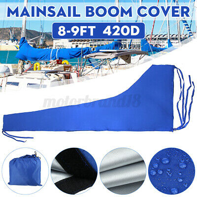 $43.69 • Buy 8-9ft 3.5m 420D Oxford Sail Cover Mainsail Boom Cover Waterproof UV Protected