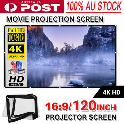 AU75.99 • Buy Projector Screen With Stand 120 Inch Outdoor Indoor Movie Projection Screen 16:9