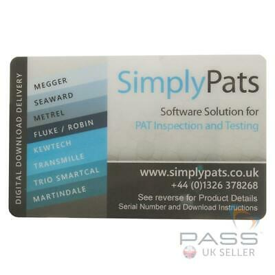 £324 • Buy *NEW* SimplyPats Universal PAT Testing Software V7 Downloadable - 2 Licences