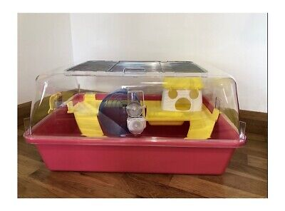 £28 • Buy Large Hamster Cage House With Toys, Wheel 50cm For Pet Dwarf Hamster, Mouse Pink