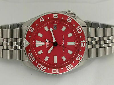 $ CDN143.68 • Buy Vintage Red Modded Seiko Diver 7002-7000 Automatic Men's Watch 3d2268