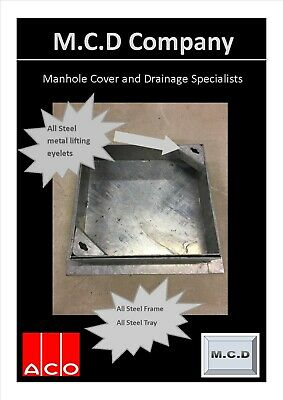 £40.56 • Buy Manhole Cover Recessed 300x300/80 All Metal Frame Tray And Metal Lifting Eyelets