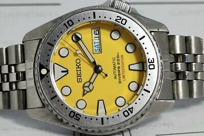 $ CDN122.91 • Buy Lovely Yellow Sumo Modded Seiko 7s26-0030 Skx013 Automatic Mens Watch Sn 310050