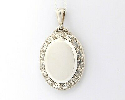 £140 • Buy Large Sterling Silver Victorian Locket Necklace