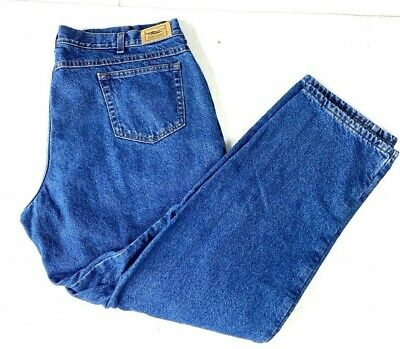 $24.99 • Buy Vintage 90s LL Bean Fleece Lined Jeans Size 40 X 31 Made In USA Union Made