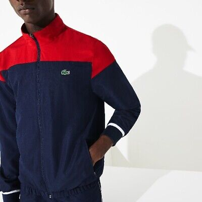 £90 • Buy Men's Lacoste Sport Tennis Tracksuit - Size 2 / Small - Navy / Red