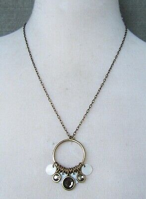 $ CDN0.13 • Buy Lia Sophia Jewelry Mother Of Pearl Necklace In Antiqued Gold