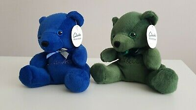 £15 • Buy Clarks Beanie Bears Soft Toy Plush X2 Blue And Green
