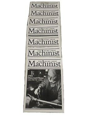 $46 • Buy Vintage 1985 THE HOME SHOP MACHINIST MAGAZINE Lot Of 6 Issues Complete Year + SI