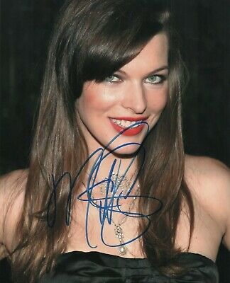 $9.99 • Buy Autographed Milla Jovovich Signed 8.5 X 11 Photo Cute Reprint