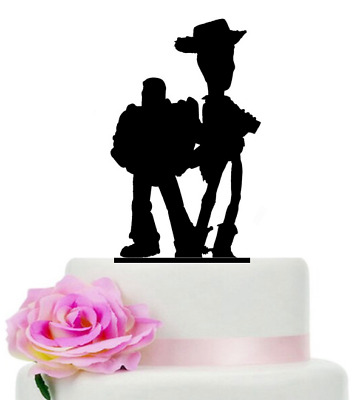 £7.99 • Buy Toy Story Buzz Lightyear & Woody Back Gloss Acrylic Cake Topper Various Colours