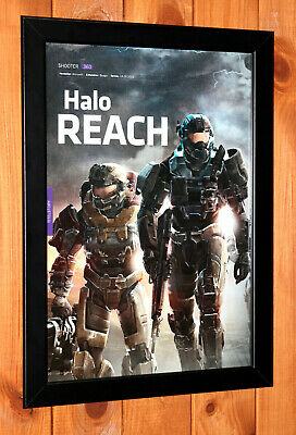 £43.88 • Buy Halo Reach Xbox 360 Xbox One Old Small Promo Poster / Ad Page Framed.
