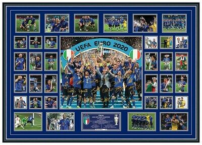 AU349.99 • Buy Italy Euro 2020 2021 Champions Signed Poster Limited Edition Framed Memorabilia
