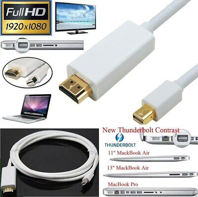 £2.99 • Buy 1M Mini DisplayPort DP To HDMI Male Thunderbolt Adapter Cable For MacBook 1080P