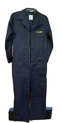 $29.99 • Buy U.S. Military Men's Navy Blue Long Sleeve Utility Coveralls - Size 44R