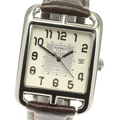 £1224.31 • Buy HERMES Cape Cod Mechanical CD6.710 White Dial Automatic Men's Watch_622289