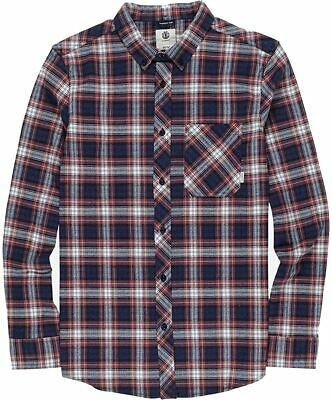 $0.99 • Buy Element Mens Shirt Red Blue Size 2XL Button Down Lumber Plaid Flannel $60 029