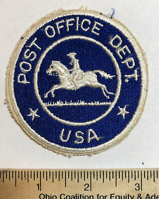 $10.22 • Buy Vintage US Mail Post Office Department USA Letter Carrier Patch USPS Horse Blue