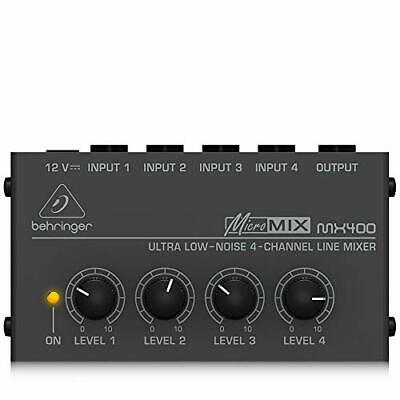 £44.04 • Buy Behringer Micromix MX400 Ultra Low-Noise 4-Channel Line Mixer,Black