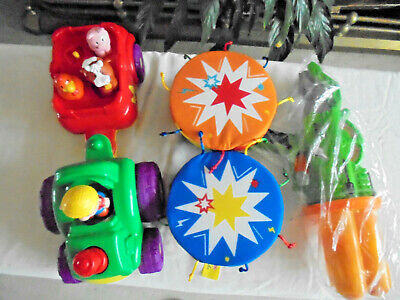 £12 • Buy 3 Toys,l/t Toy Tracter/trailer+animals.musical Bongo Cloth Drums.soft Ball,gun B