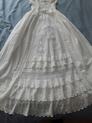 £20 • Buy Victorian Christening Gown, Broderie Anglais