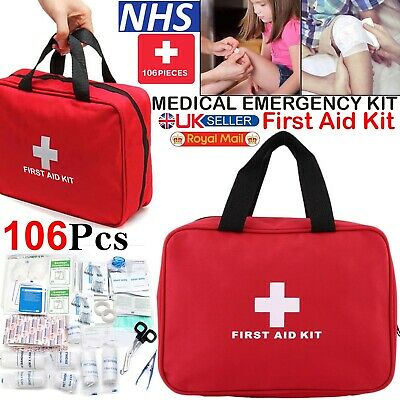 £9.99 • Buy 106 Pcs First Aid Kit Bag Medical Emergency Kit Travel Home Car Taxi Workplace U