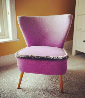 £450 • Buy Vintage Cocktail Chair Newly Reupholstered With Designers Guild Fabric