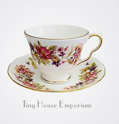 £4.99 • Buy Pretty Vintage COLCLOUGH WAYSIDE Teacup Duo; Teacup And Saucer