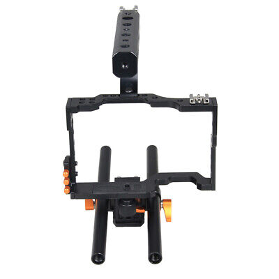 £48.92 • Buy Aluminum DSLR Rod Rig Camera Video Cage + Handle Grip For Sony A7 A7R A7S A7SII