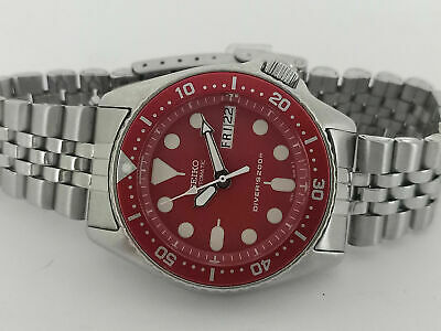 $ CDN70.98 • Buy Faulty 😱 Red Modded Seiko 7s26-0030 Skx013 Automatic Mens Watch Sn 970138