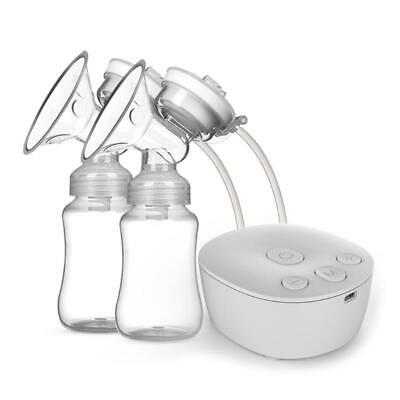 $22.22 • Buy Electric Double Breast Pump Kit With 2 Milk Bottles USB Powerful Breast Massager