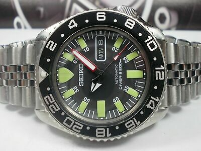 $ CDN159.26 • Buy Monster Modded Seiko 7s26-0020 Skx007 Automatic Mens Watch S.n:704557.