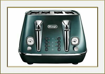 AU139.78 • Buy Delonghi 4 Slice Toaster CTI4003GR Green Distinta Flair Great Deal Limited Stock