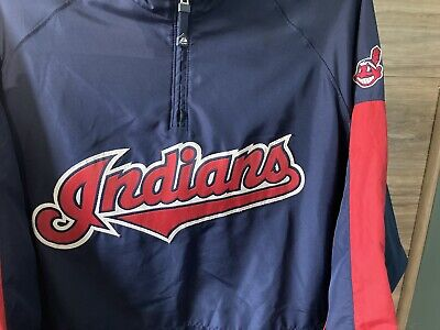 $30 • Buy Cleveland Indians- Majestic Cool Base- 1/4 Zip- Pullover Jacket- MLB- XL