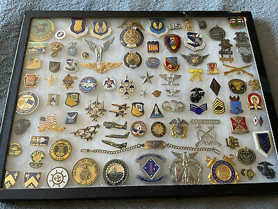 $295 • Buy US Military Mixed Lot WW2 Bracelet Pins Challenge Coins Wings Hat Badge NASA ++