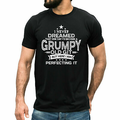 $9.99 • Buy GRUMPY OLD GIT T-shirt Funny Dad Father's Day Birthday Christmas Gift Mens Top