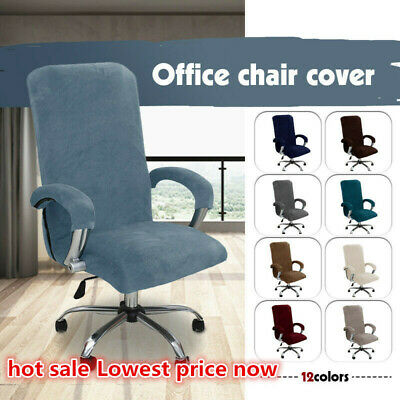 AU19.99 • Buy Thickened Office Chair Cover Stretch Velvet Computer Seat Chair Protector Covers