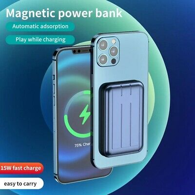 AU34.99 • Buy 10000mAh Mini 15W Wireless Charging Magnetic Power Bank For IPhone 12 Pro Max