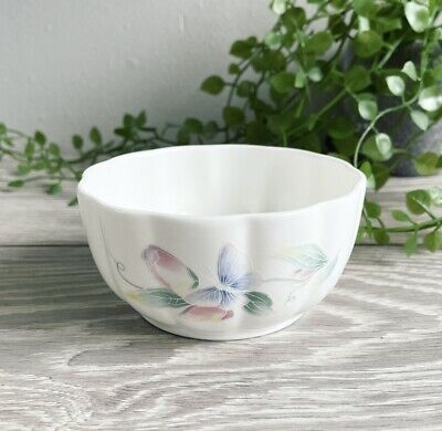 £4.99 • Buy Bone China Open Top Sugar Bowl AYNSLEY Little Sweetheart Floral Leaf Butterfly