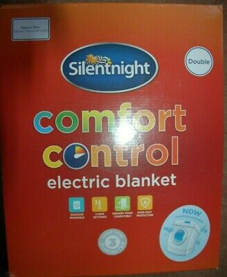 £21 • Buy Silentnight 378567EB Double Size Comfort Control Electric Blanket - White