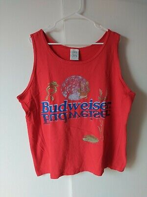 $ CDN49.78 • Buy Vintage Budweiser Frogs In Pond 1995 Sleeves T-shirt EXTRA LARGE