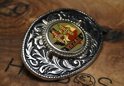 £18 • Buy Texas Western Belt Buckle Silver Colour Made In USA