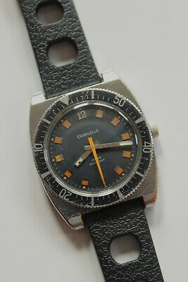 $77 • Buy Vintage Caravelle Diver Watch Manual Wind Runs Well