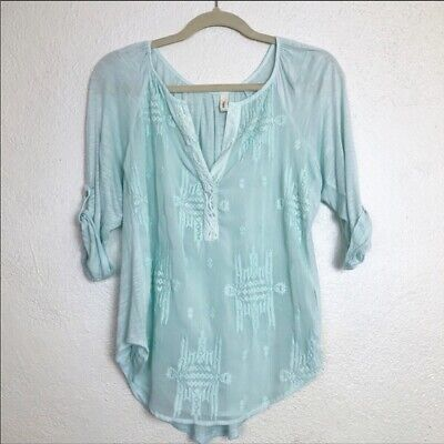 $ CDN31.47 • Buy Anthropologie Tiny Embroidered Blouse