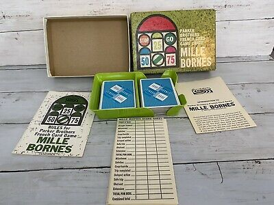 $24.99 • Buy Mille Bornes French Card Game Racing Vintage 1962 1964 Parker Brothers COMPLETE