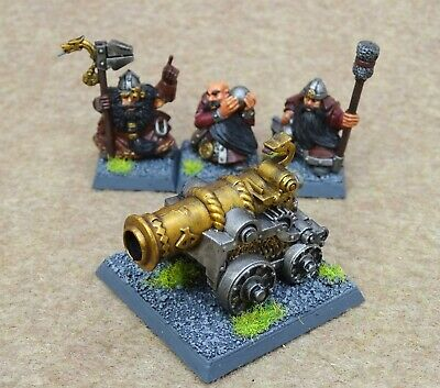 £14.99 • Buy Warhammer Dwarves DWARF CANNON And 3 CREW Well Painted GW 78269