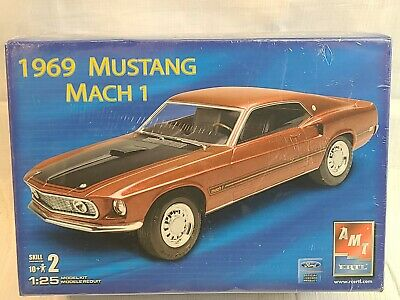 $19.80 • Buy AMT/ERTL 1969 Ford Mustang Mach 1  1:25 Scale Model Kit #38219 - Sealed Box