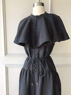 AU149.95 • Buy | COUNTRY ROAD | Bib Ruffle Tiered Dress Charcoal | $249 | NEW | SIZE: 10,12,16